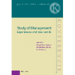 Study of management : experiences and new trends – Publikacja już dostępna