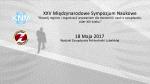 XXV Międzynarodowe Sympozjum Naukowe 18-19 Maja 2017
